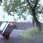 BMW sur deux roues avant le crash