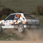 La Peugeot 205 les 4 roues en l'air