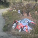 La Hyundai I20 WRC dans le fossé
