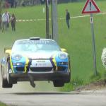 Porsche 997 GT3 les 4 roues en l'air