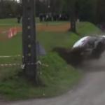 La Renault Clio R3 juste après le choc