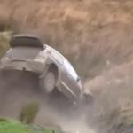 La Volkswagen Polo R WRC pendant l'impact