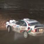 Toyota Celica en glisse dans la boue