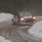 La Citroën DS3 WRC en glisse sur la glace