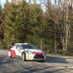 La Citroën DS3 R3 dans une épingle