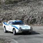 Mazda RX7 lors du rallye