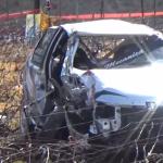 La Peugeot 106 après les tonneaux