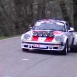 Porsche du vainqueur du rallye