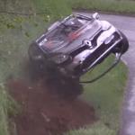 Une Renault Clio 4 en plein crash
