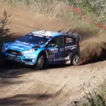 Une Ford Fiesta WRC à la limite