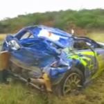 La Subaru Impreza WRC complètement détruite