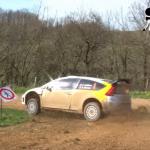 Stéphane Lefebvre en glisse avec la C4 WRC