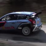 La Hyundai I20 WRC lors des tests