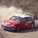 Citroën Xsara WRC avec Loeb pendant les essais