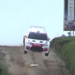 La Citroën DS3 R5 les 4 roues en l'air