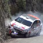 Crash d'une Peugeot 208 R2