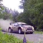 La Citroën C3 WRC sur les routes finlandaises