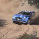 La Ford Fiesta WRC à deux doigts d'un arbre