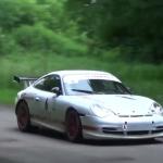 Porsche 996 GT3 lors du rallye