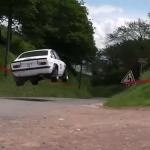 Opel Kadett en plein vol