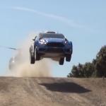 Ford Fiesta WRC les 4 roues en l'air