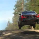 Une Hyundai I20 WRC en l'air