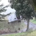 La Subaru Impreza en plein crash