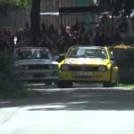 Une Opel Kadett et une BMW M3
