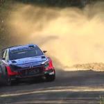 La Hyundai I20 WRC d'Abbring à la limite