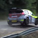 Une Ford Fiesta WRC sur une bosse