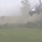 Crash d'une Ford Fiesta WRC