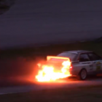 Une Audi Quattro en feu