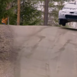 La Toyota Yaris WRC sur une bosse