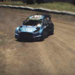 Une Ford Fiesta WRC dans le jeu