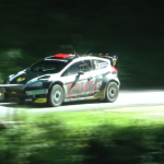 Ford Fiesta WRC lors d'un freinage