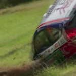 La Ford Fiesta R2 pendant le crash
