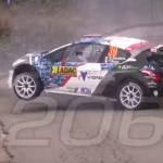 La Peugeot 208 T16 pendant le choc