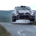 La Volkswagen Polo R WRC 2017 en l'air