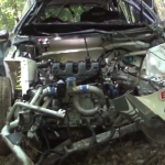 La Ford Fiesta R5 après le crash