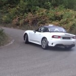 L'Abarth 124 rally pendant les essais