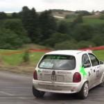 Une Opel Corsa en glisse