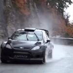 La Ford Fiesta WRC sous la pluie