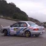 Une Subaru Impreza en glisse