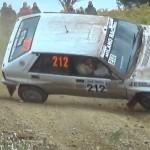 Une Lancia Delta Integrale en plein tonneaux