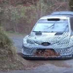 La Toyota Yaris WRC pendant les essais