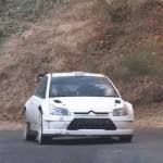 La Citroën C4 WRC pendant les essais