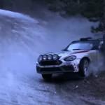La Fiat Abarth 124 au moment du choc