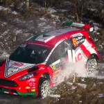 La Ford Fiesta R5 pendant le crash