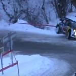 La Ford Fiesta WRC pendant le choc