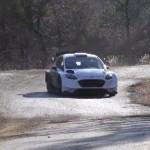 La Ford Fiesta WRC pendant les essais